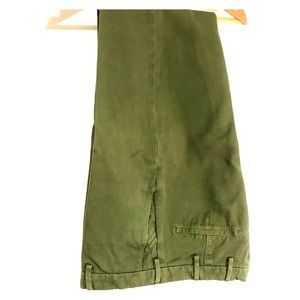Beautifully made green trousers